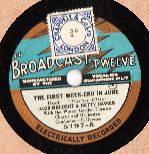 Jack Hulbert & Betty Davies- First Weekend - Broadcast 5197